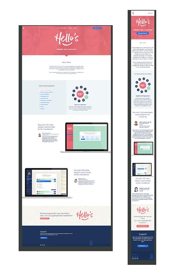 Case: Hellos - Simpele website