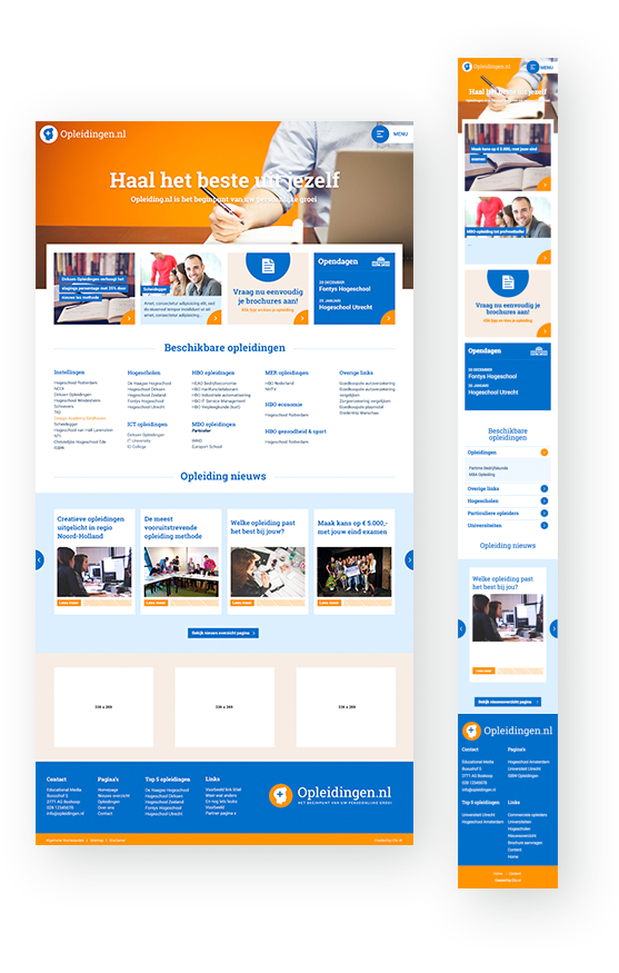 Case: Opleidingen.nl koos voor een uniek design