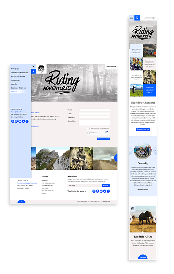 Case: Riding Adventures koos voor een stoer webdesign